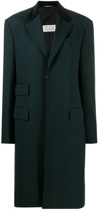 Maison Margiela Single-Breasted Wool Coat