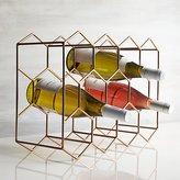 Crate & Barrel 11-Bottle Wine Rack Copper