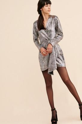 Ronny Kobo Metallic Leopard Sequin Mini Dress