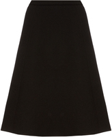 Oscar de la Renta A-line brushed-wool midi skirt