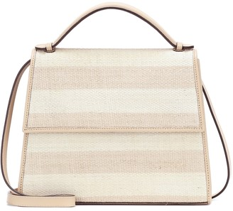 Hunting Season The Large Top Handle leather and fique striped bag