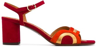 Chie Mihara Contrast-Panel Sandals
