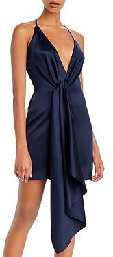 Cushnie Drape Detail Silk Mini Dress