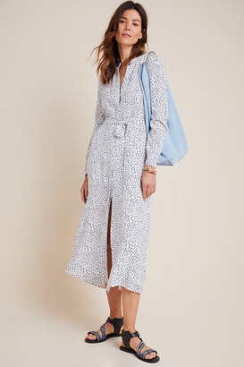 Cloth & Stone Maxi Shirtdress By in Blue Size XS
