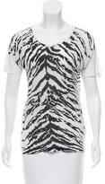Saint Laurent Tiger Print Short Sleeve T-Shirt