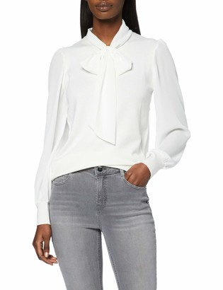 Dorothy Perkins Women's Ivory Pussybow 2in1 Fine Gauge Jumper Sweater 14