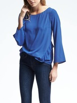 Banana Republic Asymmetrical Ruffle Blouse