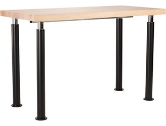 """Butcherblock Top Science Table National Public Seating Size: 42"""" H x 48"""" L x 24"""" W"""