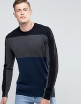 French Connection Soft Vhari Block Knitted Sweater