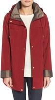 Gallery Silk Look Hooded Raincoat (Regular & Petite)
