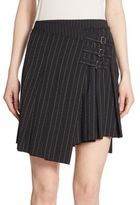 McQ Stripe Pleated Mini Skirt