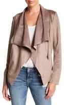 Vigoss Asymmetrical Faux Suede Wrap Jacket