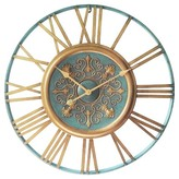 Infinity Instruments Parisian Gold Wall Clock - Turquoise