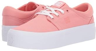 DC Trase Platform TX (Coral) Women's Skate Shoes