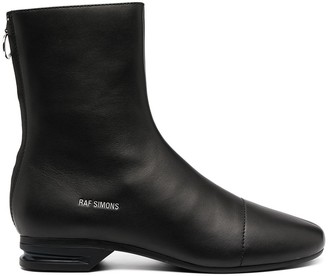 Raf Simons Logo-Stamp Ankle Boots