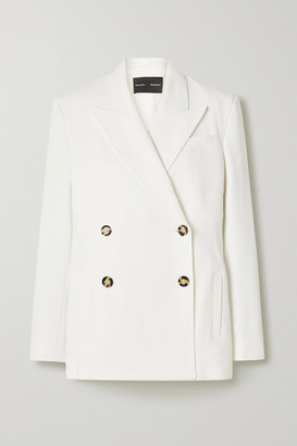 Proenza Schouler Double-breasted Crepe Blazer - Off-white