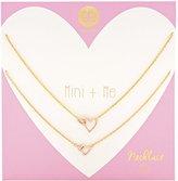 Gorjana Mini + Me Interlocking Hearts Set Chain Necklace