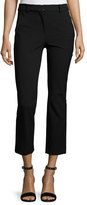 Rebecca Taylor Straight Cropped Suit Pant, Black