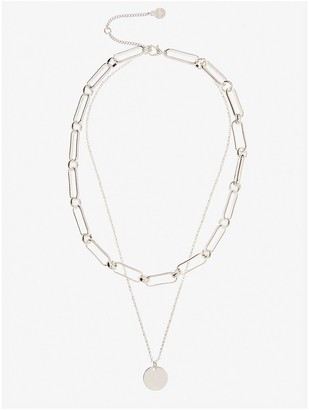 Mint Velvet Layered Chain Necklace - Silver