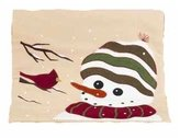 Home Collections by Raghu Winter Friends Nutmeg Table Runner, 14 by 36-Inch