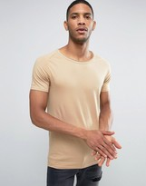 Liquor & Poker Muscle Fit T-Shirt Raw Hem Scoop Neck