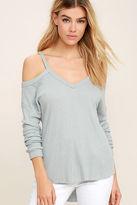 LuLu*s Change It Up Light Grey Long Sleeve Top