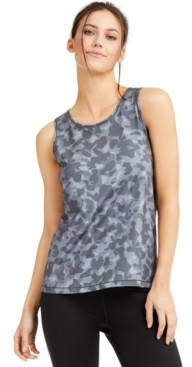 Ideology Camo-Print Mesh-Back Tank Top, Created for Macy's
