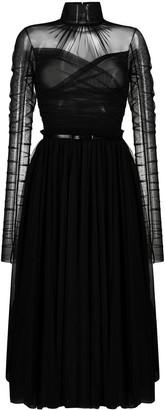 BROGNANO Ruched Design Dress
