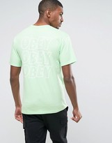 Obey T-Shirt With Repeat Logo Back Print
