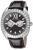 Pierre Cardin Levant De Seduction Women's Quartz Watch with Black Dial Analogue Display and Black Leather Strap PC106042S01