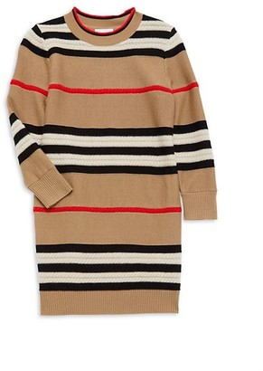 Burberry Little Girl's & Girl's Leeta Wool-Cashmere Printed Dress