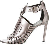 Proenza Schouler Metallic Caged Sandals