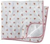 Ralph Lauren Infant Girls' Layette Reversible Printed Receiving Blanket - Sizes 3-9 Months