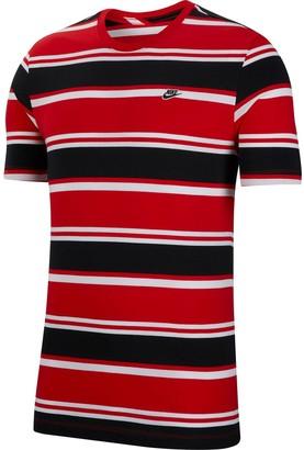 Nike Stripe Tee - White/Red/Black