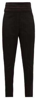Balmain Satin-trimmed Wool Tuxedo Trousers - Womens - Black
