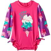 Hatley Ice Cream Treats Mini Rashguard Swimsuit Girl's Swimsuits One Piece