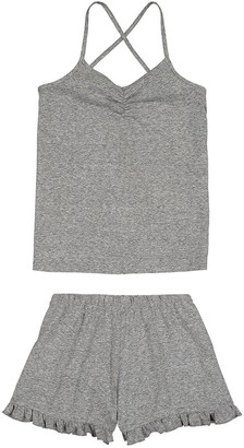 La Redoute Collections Cotton Mix Short Pyjamas with Shoestring Straps, 10-16 Years