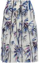 Emilio Pucci Pleated Embroidered Printed Organza Skirt