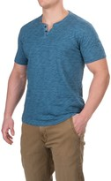 Lucky Brand Two-Button Notch T-Shirt - Short Sleeve (For Men)