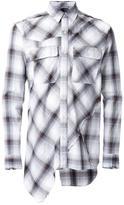 Miharayasuhiro patchwork plaid shirt - men - Cotton/Rayon - 48