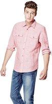 GUESS Lance Linen Chambray Regular-Fit Shirt
