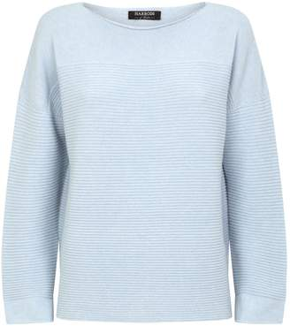Harrods Ribbed Detail Cashmere Sweater