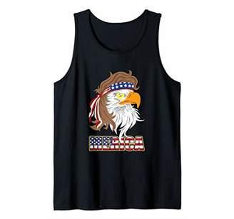 American Patriot Bold Eagle Merica Flag USA Tank Top