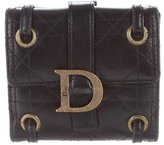 Christian Dior Cannage Leather Compact Wallet