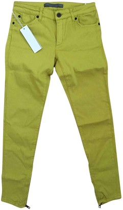 Superfine Yellow Cotton - elasthane Jeans for Women