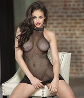 Shirley of Hollywood Halter Fishnet Chemise Lingerie - Women's