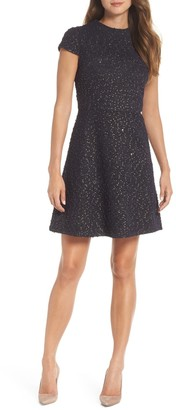 Vince Camuto Boucl? Fit & Flare Dress