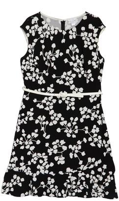 London Times Belted Sleeveless Knit Dress (Plus Size)