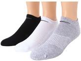 Nike Cotton Cushion No Show with Moisture Management 3-Pair Pack Men's No Show Socks Shoes