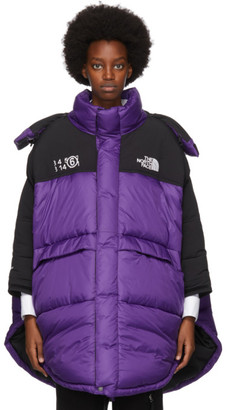MM6 MAISON MARGIELA Purple The North Face Edition Down Circle Coat